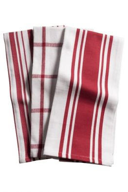 Set of 3 Pantry Towels, Red