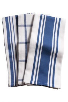 Set of 3 Pantry Towels, Blue