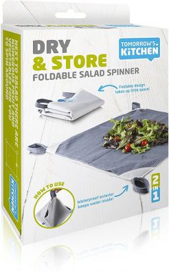 Tomorrow's Kitchen Dry and Store Foldable Salad Spinner