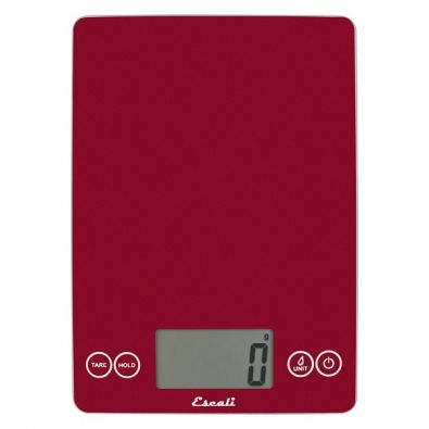 Escali Arti Kitchen Scale 15 lb., Rio Red