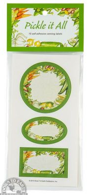 Pickle It All Labels, Pack of 18