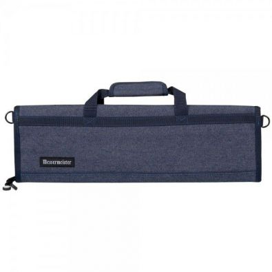 Messermeister Padded Knife Roll 8-Pocket Blue Denim