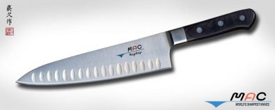 MAC Professional Series 8 Inch Dimpled Mighty Chef Knife