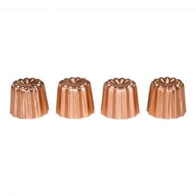 Patisse Cannele Bordelais Molds, Set of 4