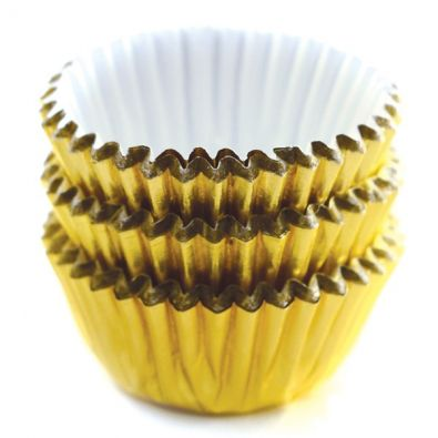 Mini Gold Baking Cups