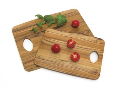 Teak Wood Cutting Boards, Set of Two