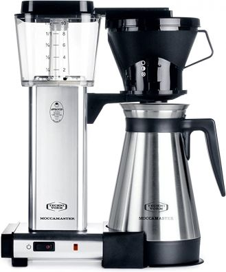 Moccamaster KBT 10 Cup Coffee Maker Polished Silver