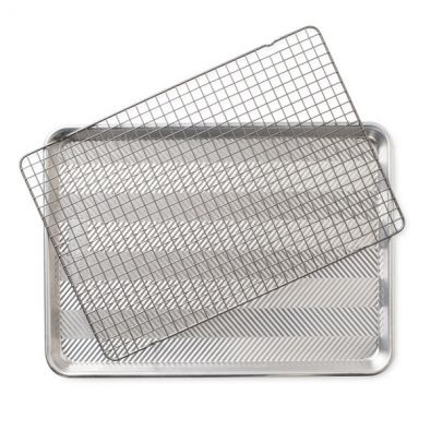 Nordic Ware Prism Half Sheet with Oven-Safe Nonstick Grid