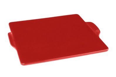 Emile Henry Square Pizza Stone 14-In Burgundy