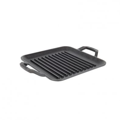 Lodge Chef Collection Pre-Seasoned Cast Iron Square Grill Pan