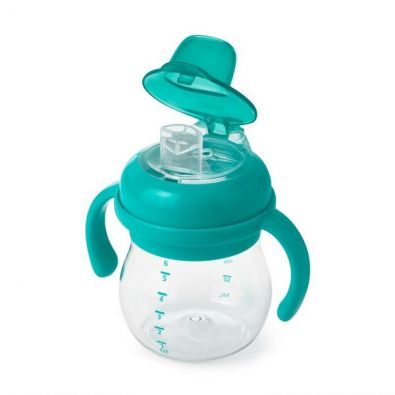 OXO Tot Transitions Soft Spout Sippy Cup with Removable Handles Teal