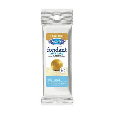 Satin Ice Rolled Fondant 4.4-Oz Gold Shimmer Vanilla