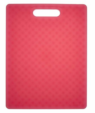 "Architec Gripper Cutting Board 11x14"" Translucent Red"