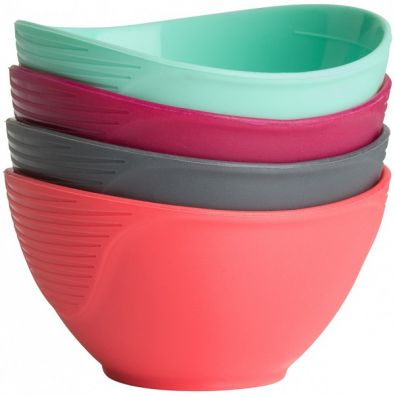 Trudeau Silicone Pinch Bowls, Set of 4