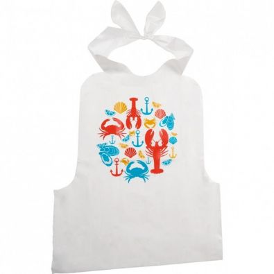Trudeau Disposable Seafood Bibs, Set of 4