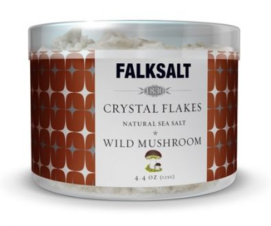 Falksalt Natural Sea Salt Crystal Flakes, Wild Mushroom