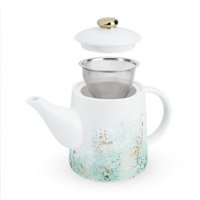 Pinky Up Reese Ceramic Tea Pot and Infuser