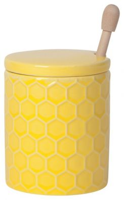 Honeycomb Honey Pot with Dipper