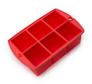 "Ice Cube Tray, 2"" Cubes, Red"