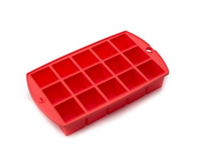 "Ice Cube Tray, 1.25"" Cubes, Red"
