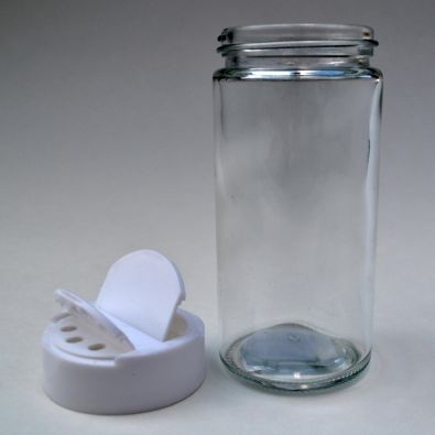 Glass Spice Jar 6 oz With White Plastic Lid (Case of 12)