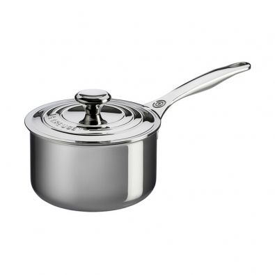 Le Creuset Stainless Steel Saucepan with Lid, 2-Quart