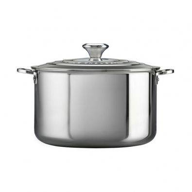 Le Creuset Stainless Steel Stockpot with Lid, 7-Quart
