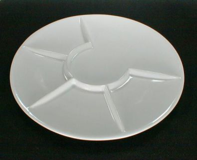 Raclette and Fondue Dinner Plates, Round White