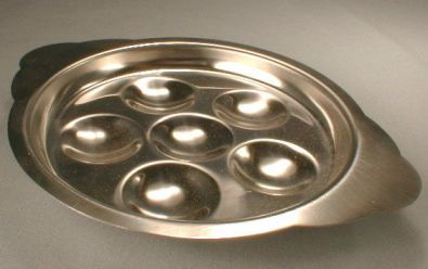 Stainless Escargot Plate, 5.5 in.