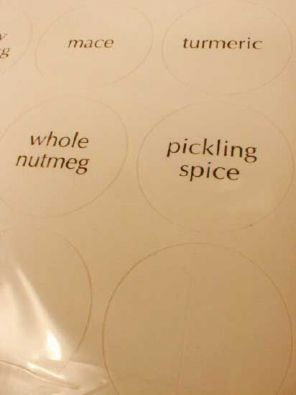 30 Round Blank Spice Labels