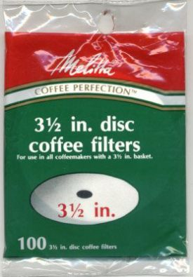3.5 Inch Disc Melitta Coffee Filter Paper 100-Count