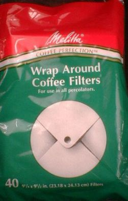Wrap-Around Melitta Coffee Filter Paper 40-Count