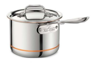 All-Clad Copper Core Sauce Pan with Lid, 2-Quart