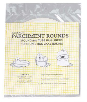 Parchment Liners for Round Tube and Flat Pans