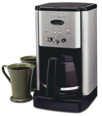 Cuisinart Brew Central 12-Cup Programmable Coffeemaker, Black and Stainless