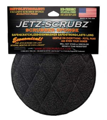 Jetz Scrubz Round Combination Scrubz and Sponge