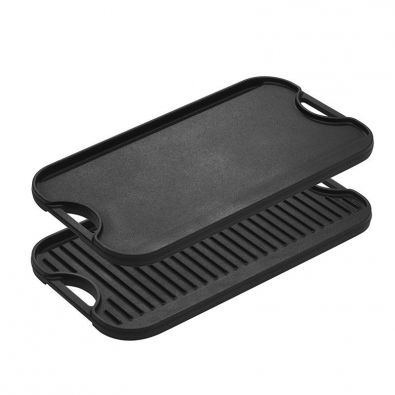 Lodge Pre-Seasoned Heavy Duty Reversible Cast Iron Griddle with Moat