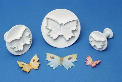 PME Veined Butterfly Gum Paste Plunger Cutter Set