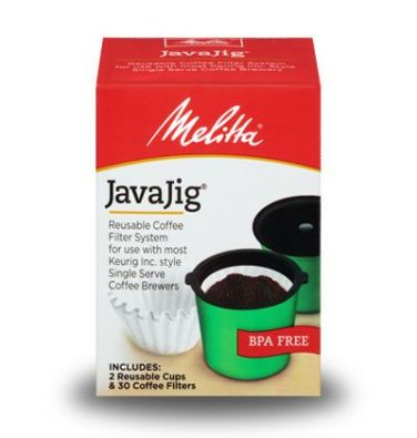 Melitta JavaJig Reusable Coffee Filter System for Single Serve Brewers