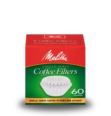 Melitta JavaJig Single Serve Coffee Filter Paper 60-Count