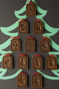 House On The Hill 12 Days of Christmas Springerle Boards Set